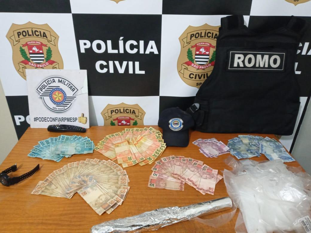Forças Policiais detém homem com drogas, cinco bicicletas e mais de R$5 mil, em dinheiro, no Campo do Sete