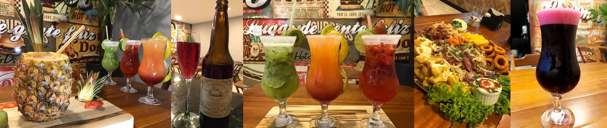 Snack House tem drinks com ou sem álccol e os mais variados chopps