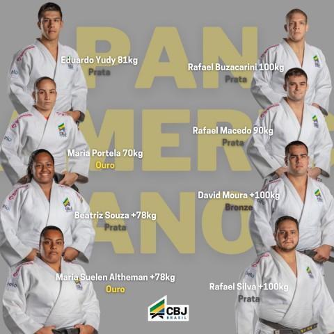 Maria Portela e Maria Suelen são campeãs e Brasil lidera quadro geral de medalhas do Pan de Judô