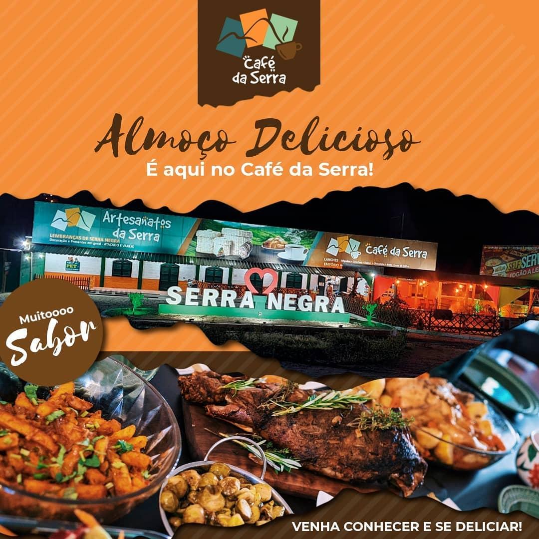 Costela no bafo, tutu de feijão, spaghetti com brócolis, merluza, pernil e muito mais no almoço do Artesanatos e Café da Serra
