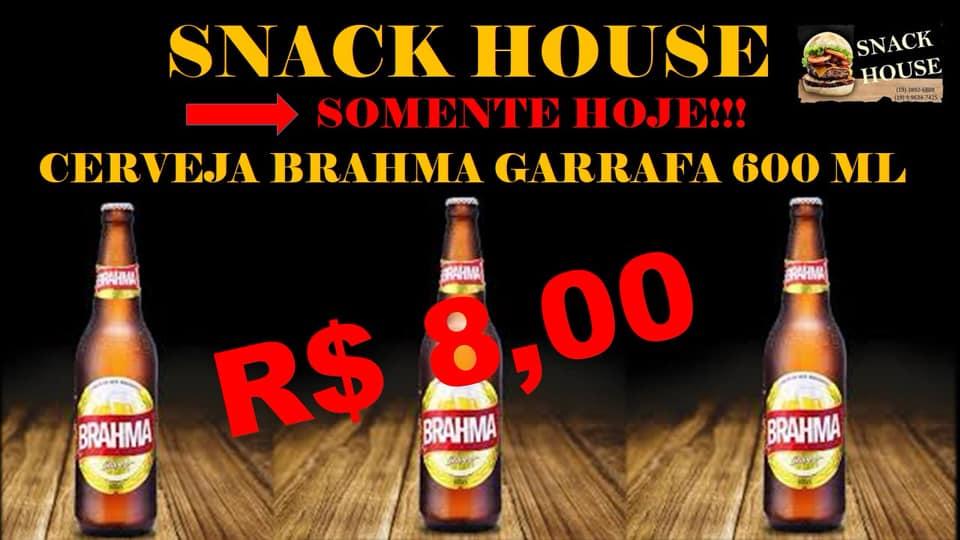 Snack House tem promoções em lanches e bebidas nesta segunda-feira