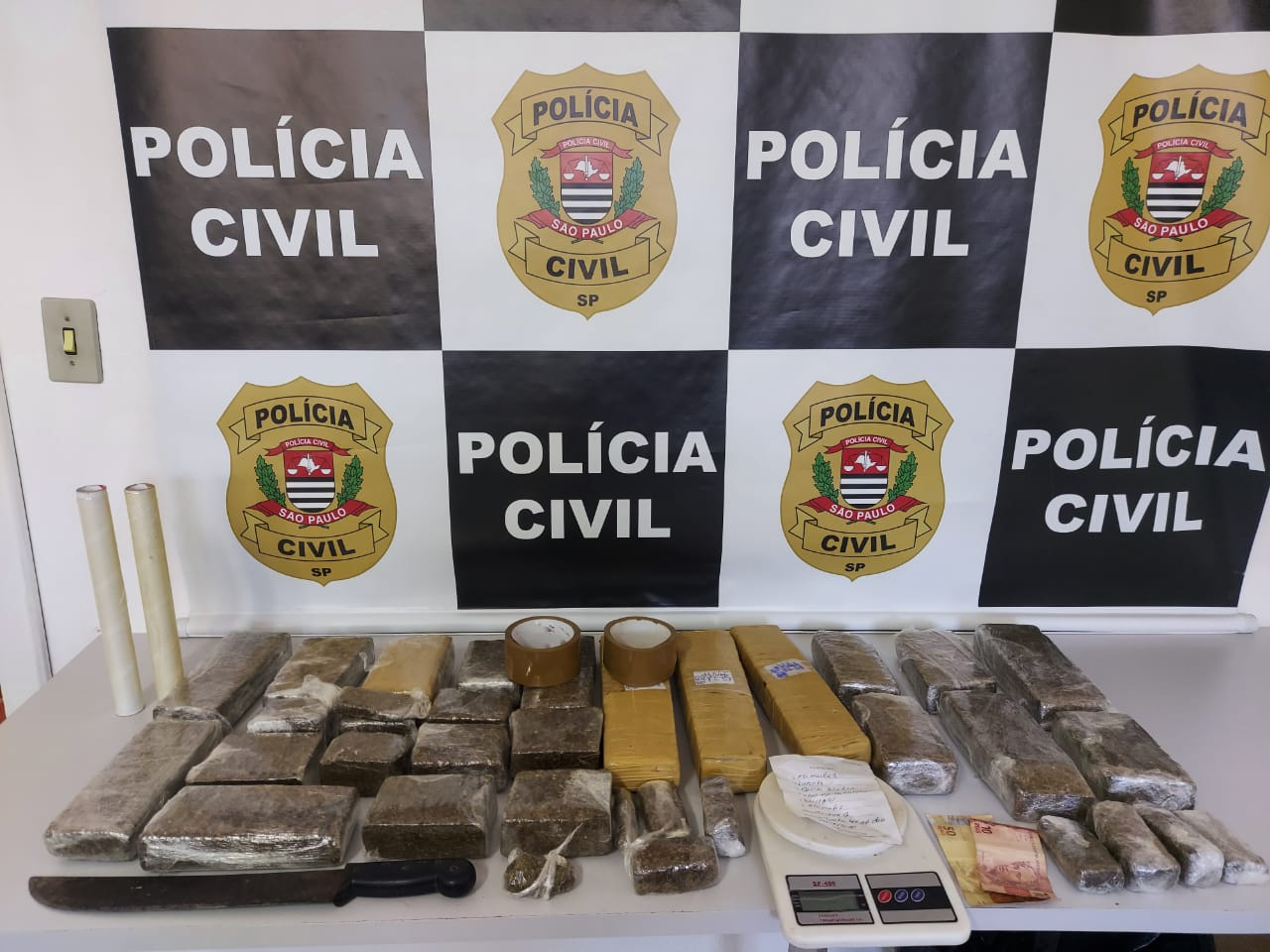 Homem é detido com mais de 11 quilos de maconha em Monte Alegre do Sul