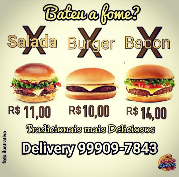 Burger Mania tem promoção em lanches tradicionais para o sábado