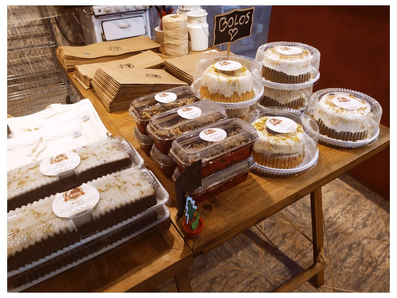 Pane Di Marchi tem fornadas de filão italiano, brioches e bolos artesanais