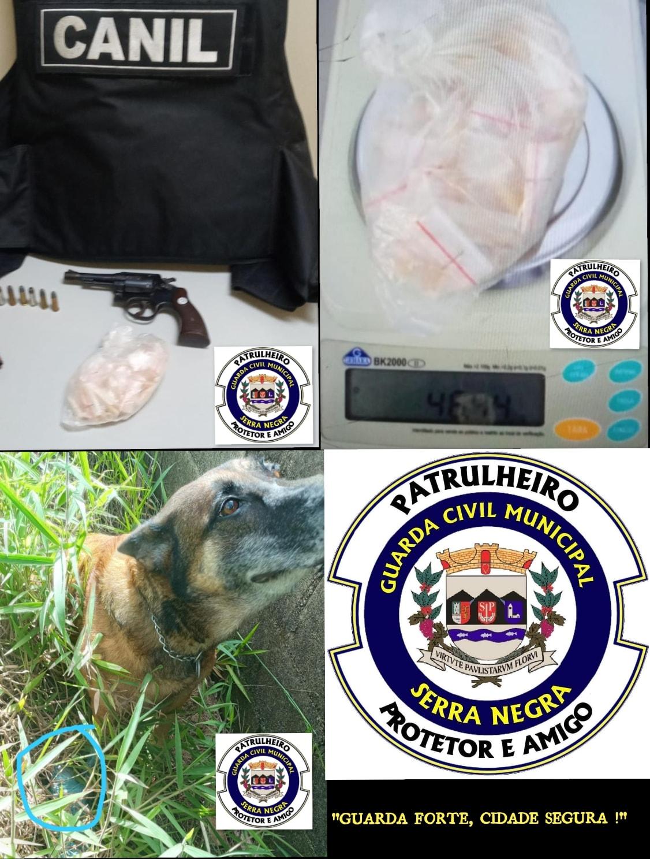 GCM localiza drogas e arma no bairro das Posses