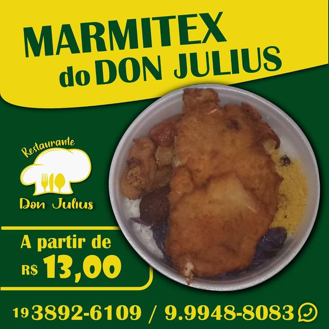 Don Julius tem linguiça italiana acebolada, com arroz, feijão, polenta frita, refogado de couve, petisco de ravioli e banana à milanesa, nesta quarta-feira