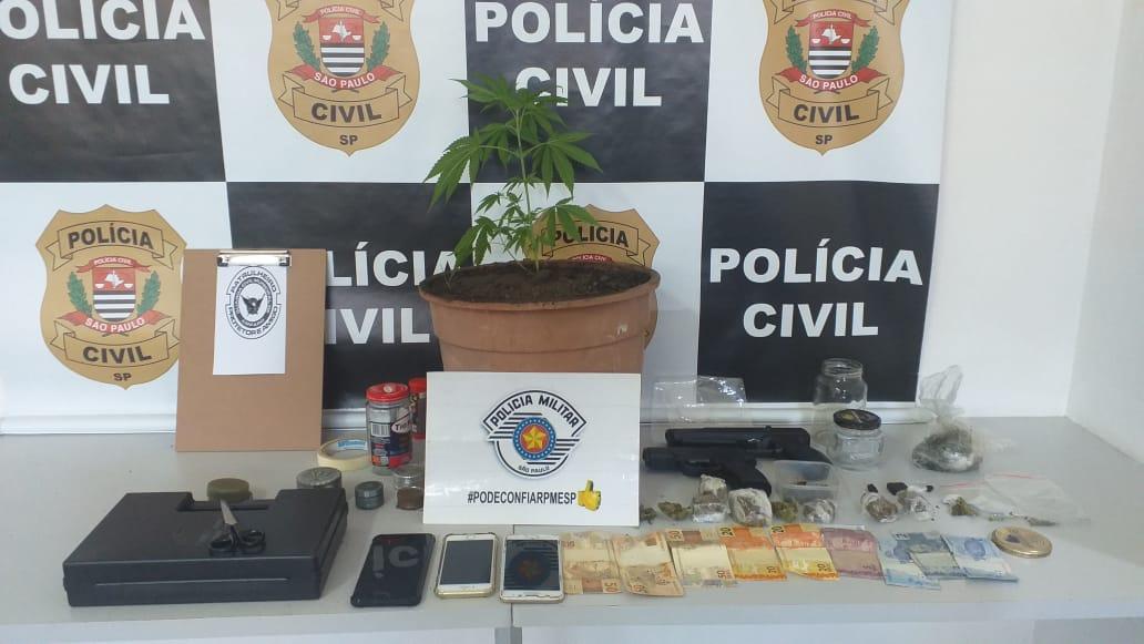 Casal de Monte Alegre do Sul é detido por tráfico de drogas