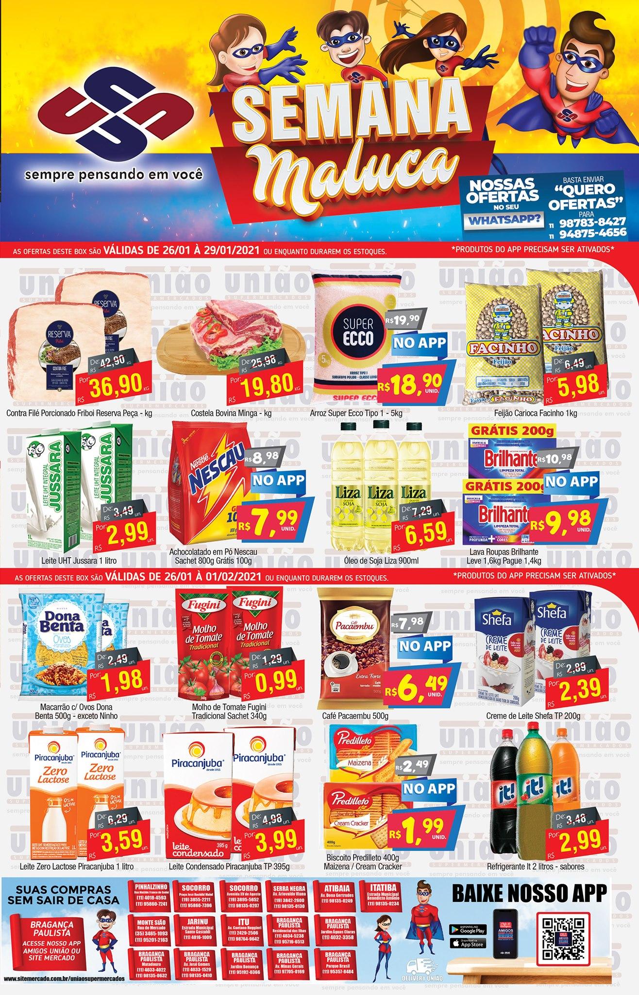 União Supermercados tem mais de 90 ofertas na Semana Maluca