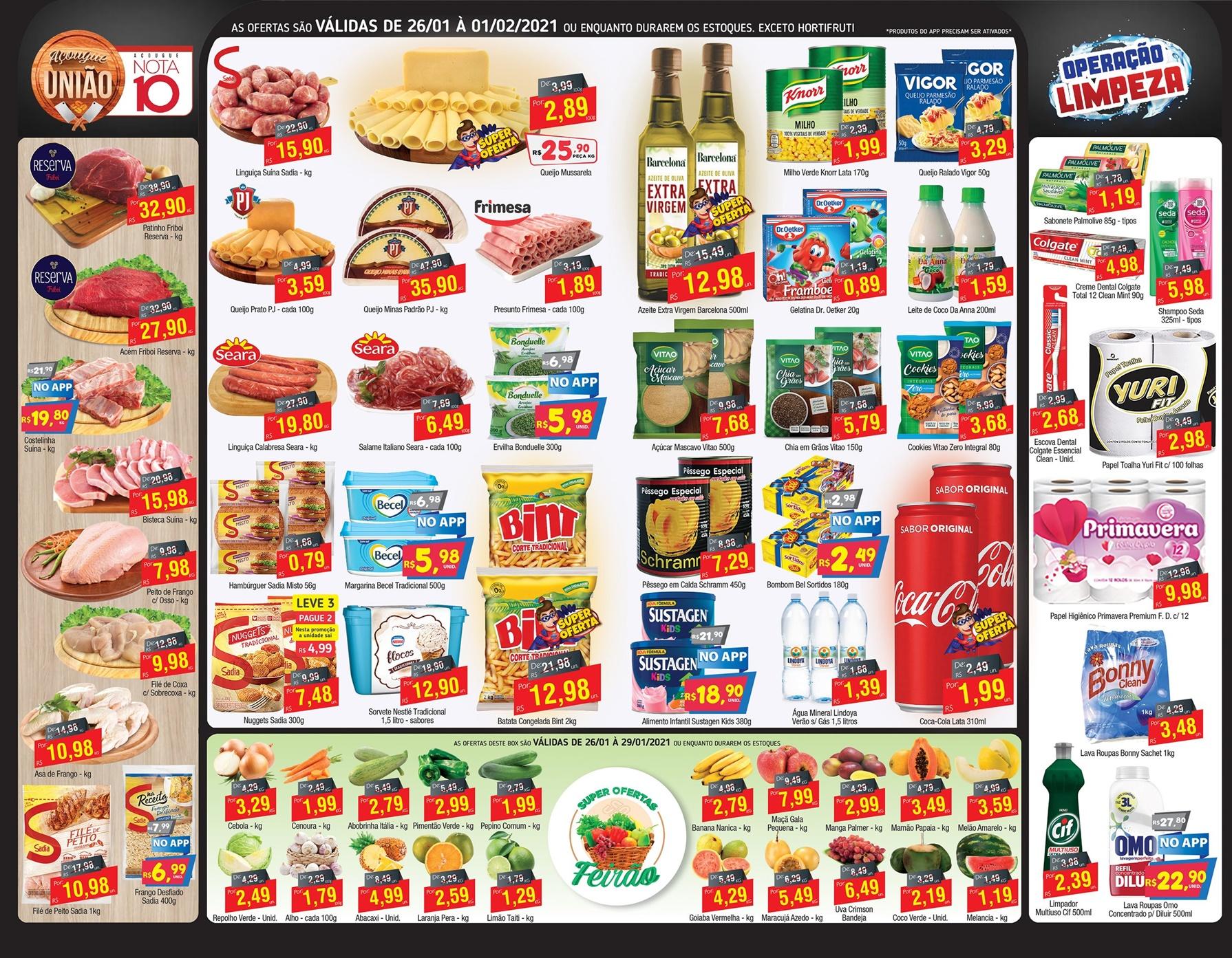 União Supermercados tem ofertas no açougue até segunda-feira