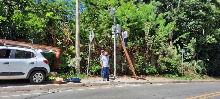 Águas de Lindoia amplia número de câmeras de segurança que identificam placas de veículos furtados ou roubados