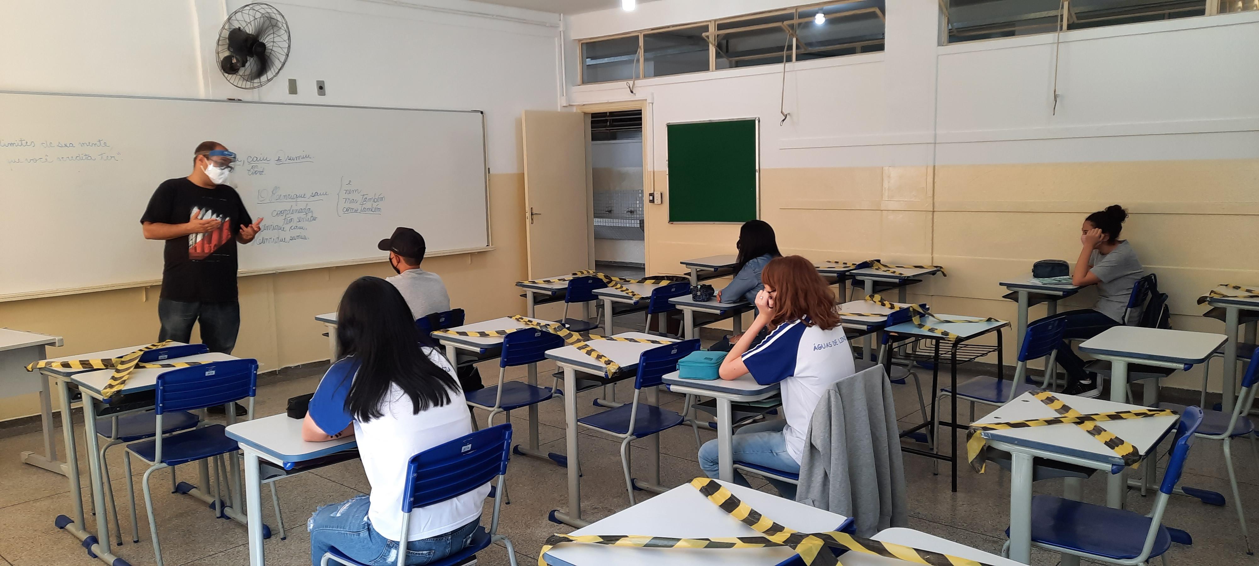 Escolas de Águas de Lindoia registram presença de menos da metade dos alunos esperados para o primeiro dia de aula