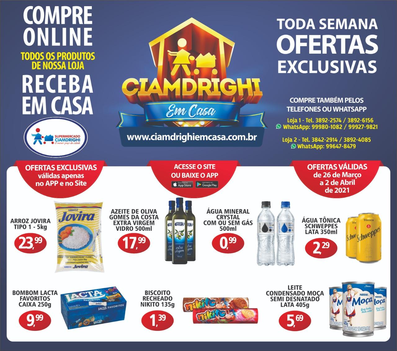 Ciamdrighi tem ofertas para o delivery
