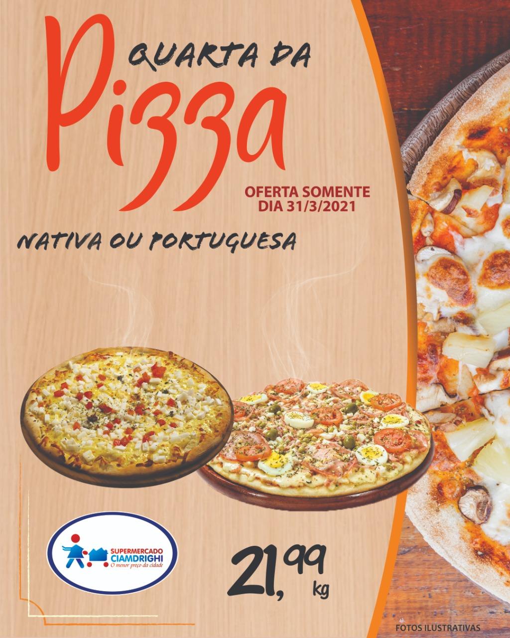 Ciamdrighi tem ofertas em pizzas e hortifrútis para hoje