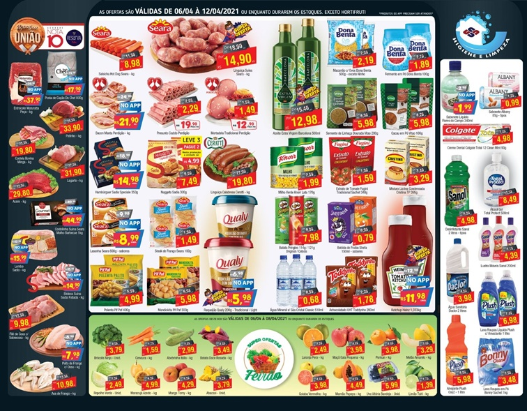 União Supermercados tem oito ofertas de hortifrúti até quinta-feira