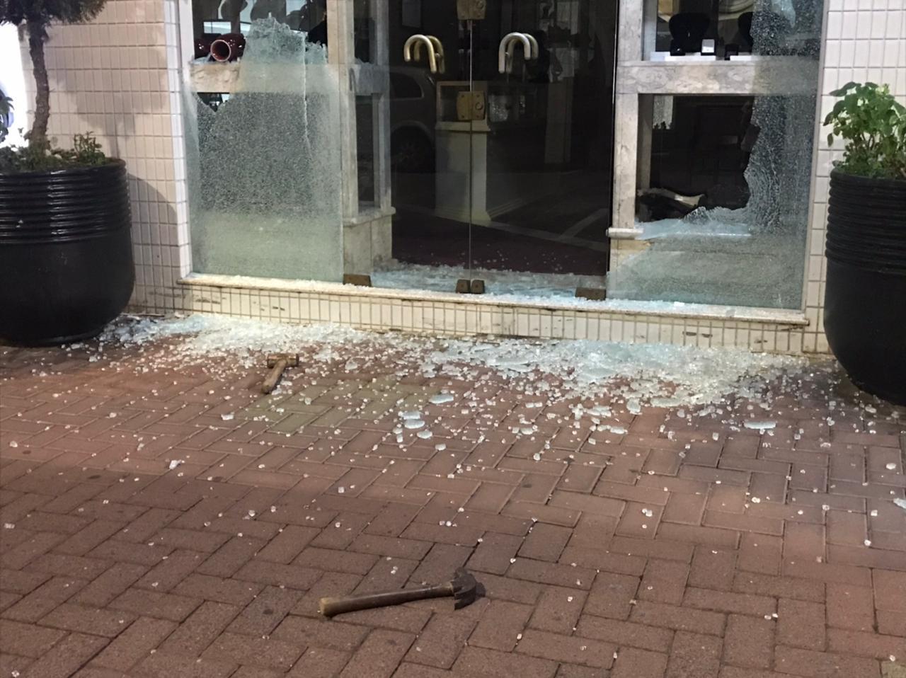 Joalheria é atacada no Centro de Serra Negra