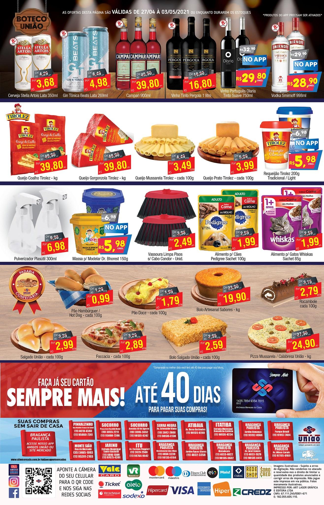 União Supermercados tem ofertas em carnes, bebidas, queijos e muito mais para o fim de semana