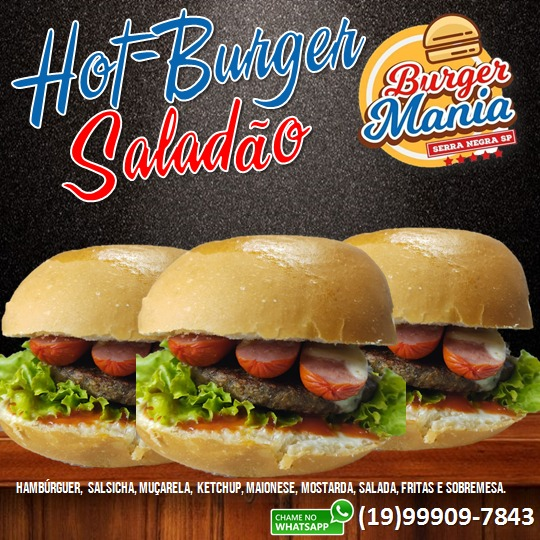 Burger Mania tem opções tradicionais e exclusivas de Hot-Dogs