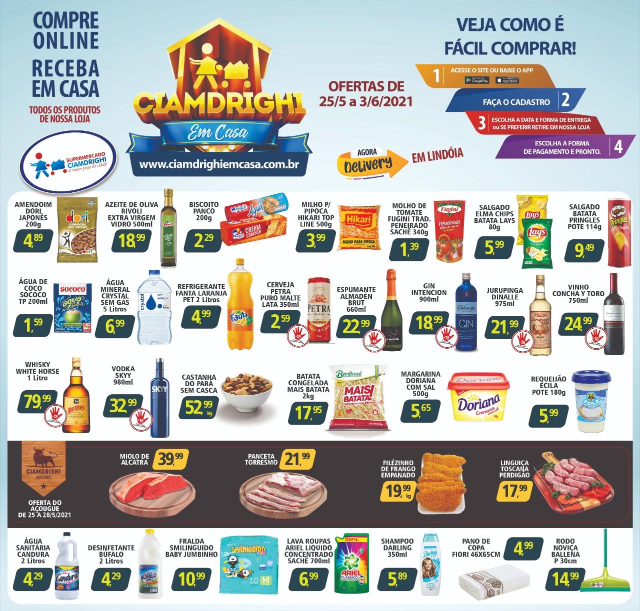 Ciamdrighi tem ofertas no açougue, bebidas, limpeza e higiene para o fim de semana