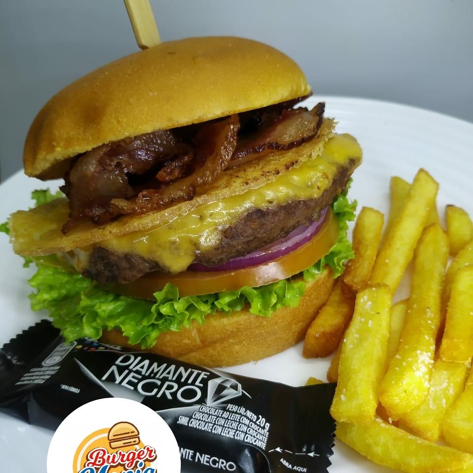 Mania Picanha conta com 150 gramas de hamburguer gourmet de carne nobre