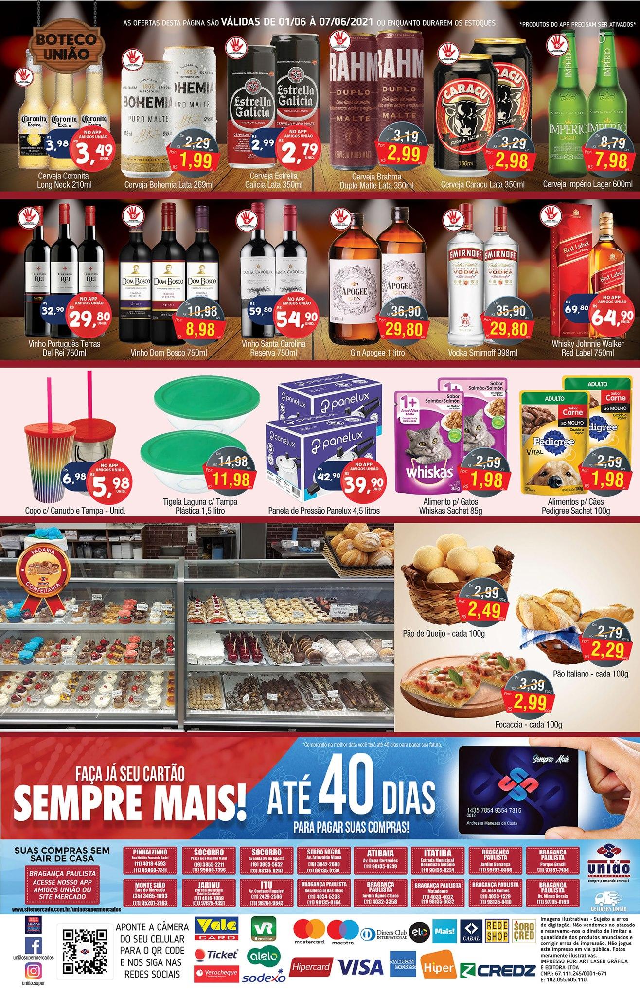 União Supermercados tem ofertas em bebidas, açougue e muito mais para o fim de semana