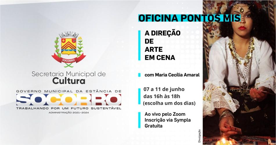 Pontos MIS e Secretaria de Cultura realizará a partir do dia 7 de junho a Oficina - A Direção de Arte em Cena