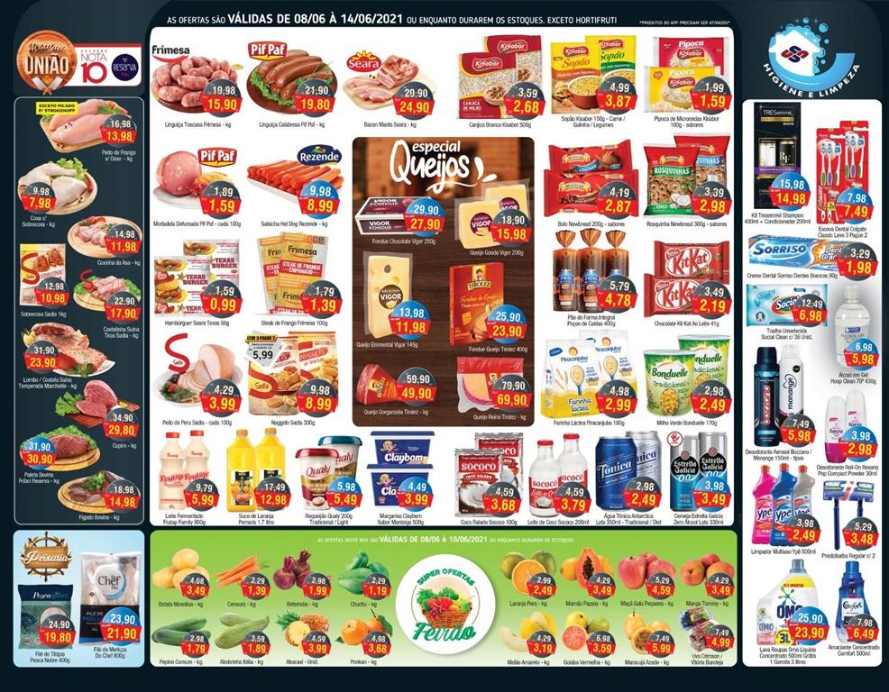 União Supermercados tem  ofertas de hortifrúti e mais 90 opções para a quarta-feira