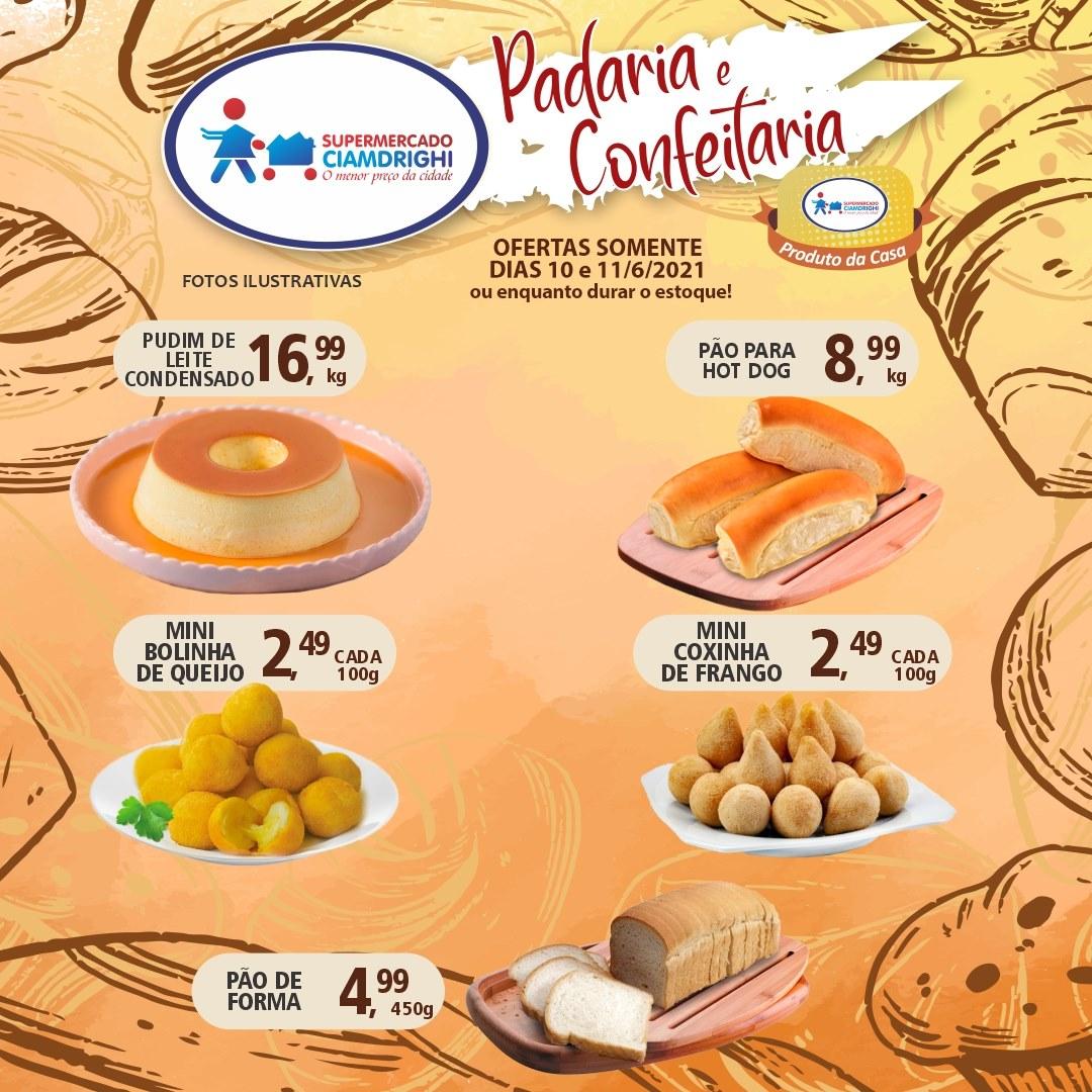 Ciamdrighi tem ofertas na Padaria e Confeitaria para a quinta e sexta-feira