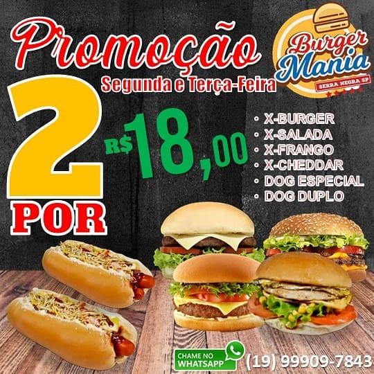 Burger Mania tem lanches em dobro para o início de semana