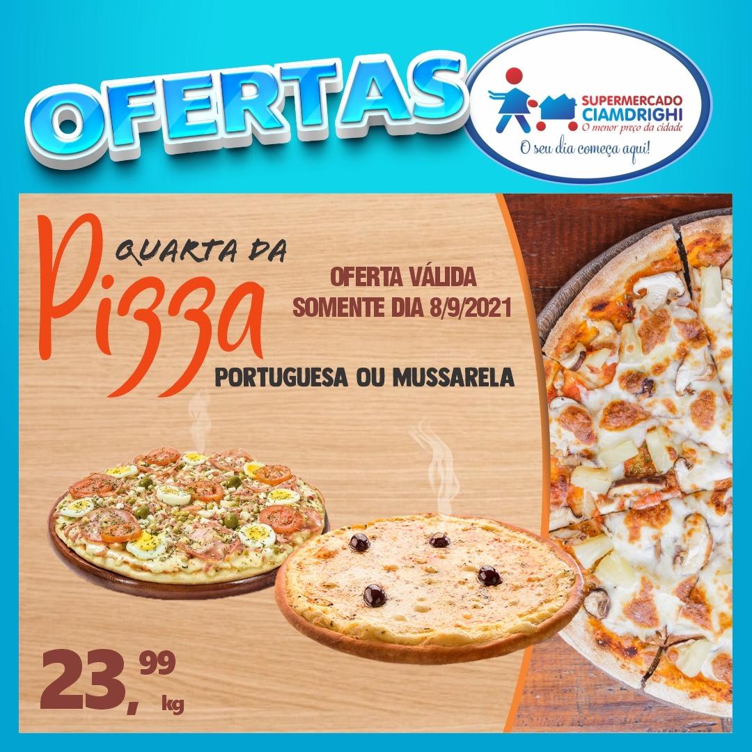 Quarta-feira de ofertas em pizzas, hortifrúti e mais 30 opções no Ciamdrighi