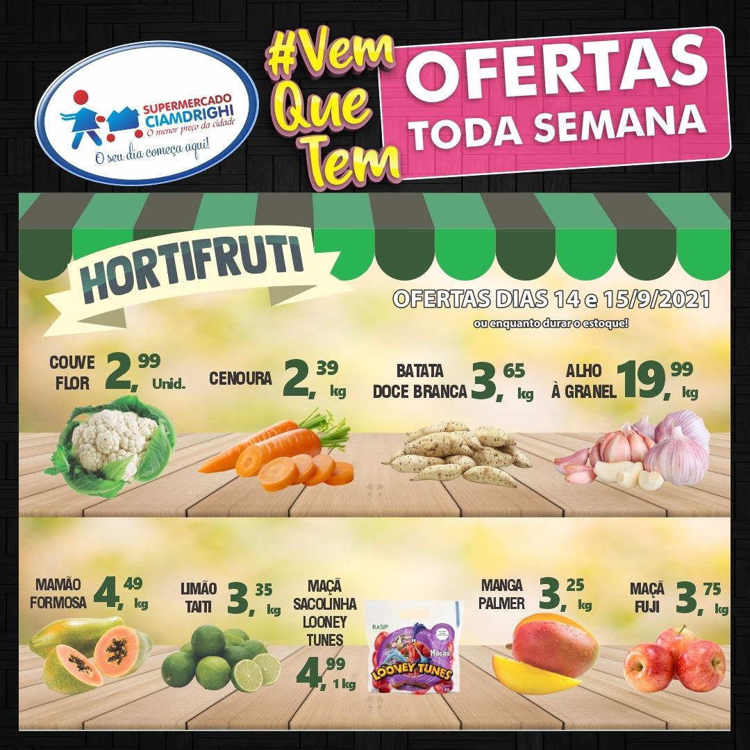 Terça-feira de ofertas de hortifrúti e mais 30 opções no Ciamdrighi