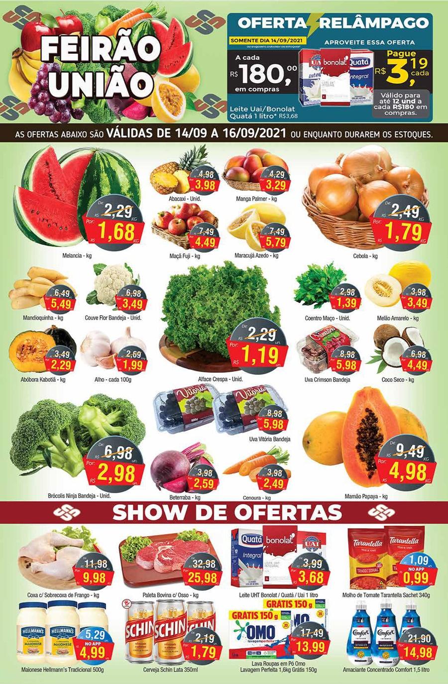 União Supermercados tem meio de semana com mais de 50 ofertas