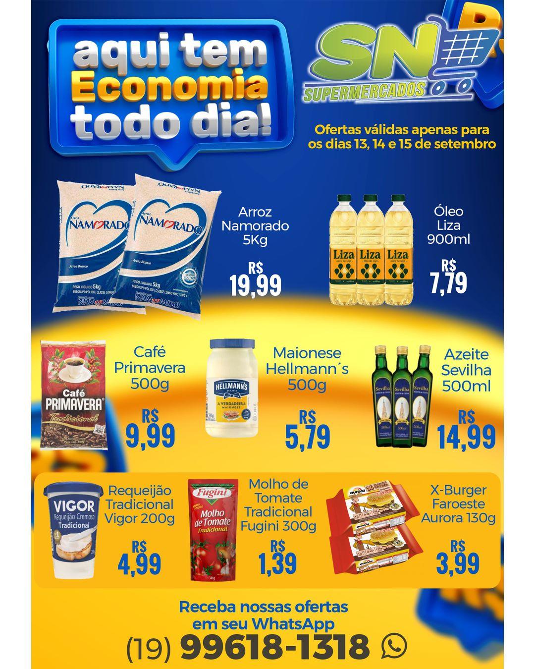 SN Supermercados tem 20 ofertas para a terça e quarta-feira