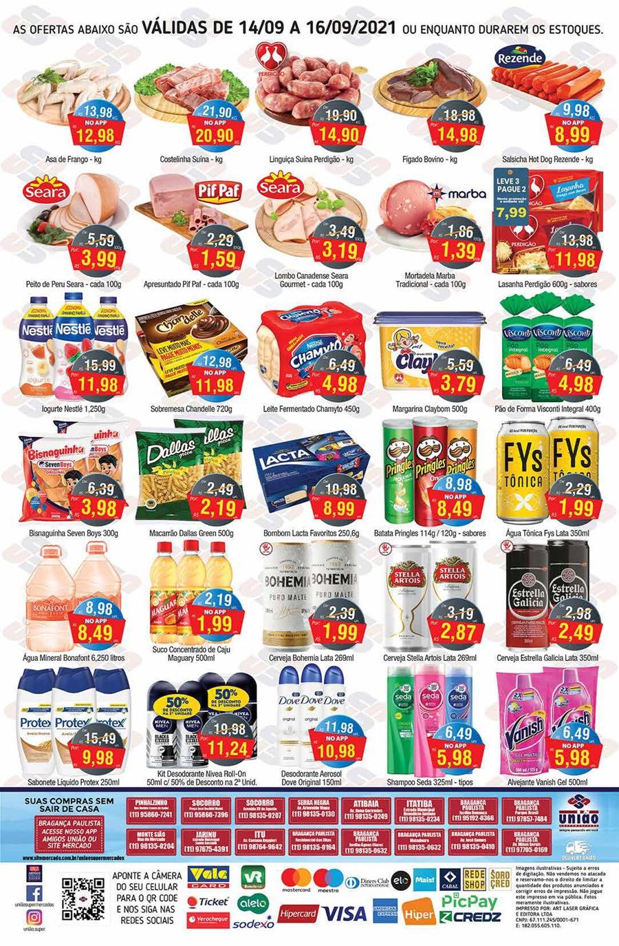 União Supermercados tem ofertas no açougue, embutidos, hortifrúti e muito mais para a quarta-feira