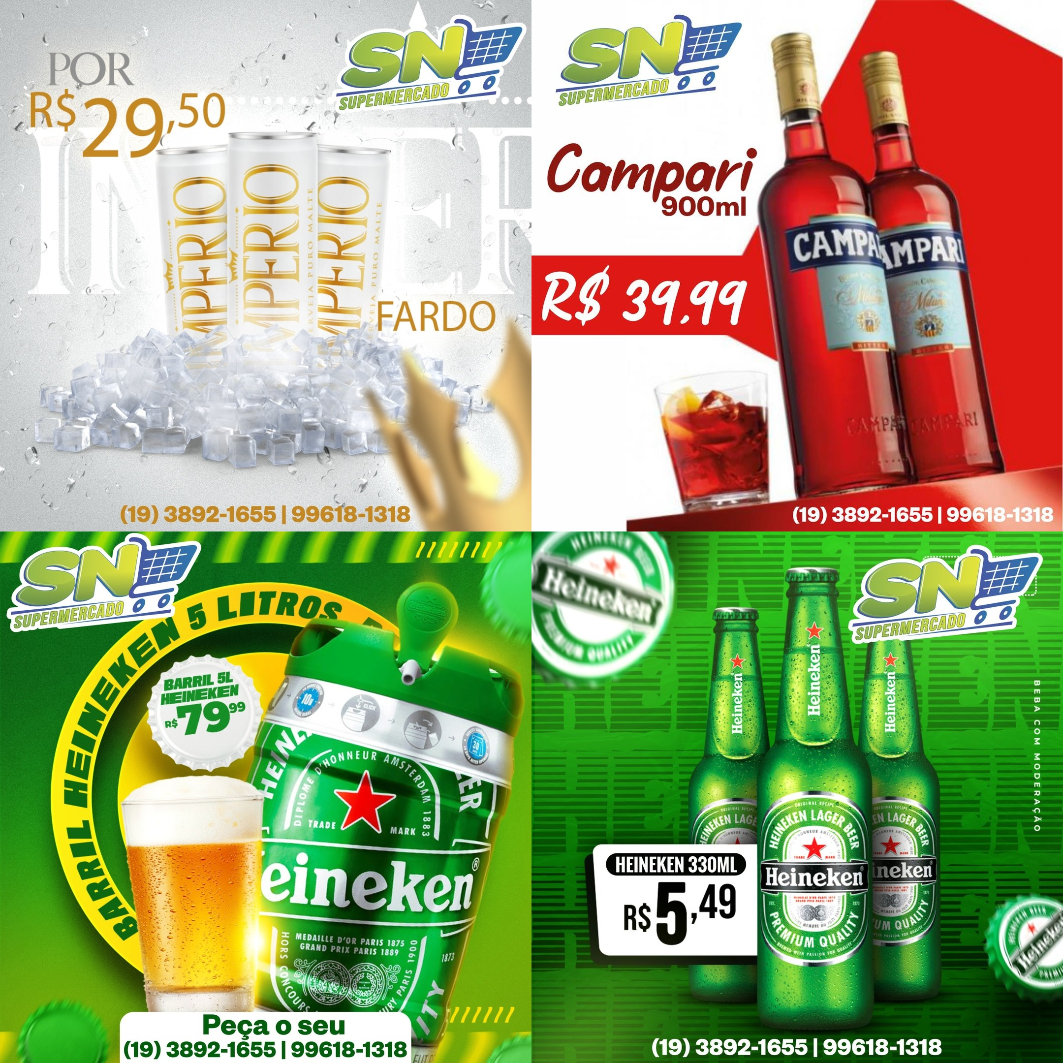 Domingo de ofertas até às 19 horas, no SN Supermercados
