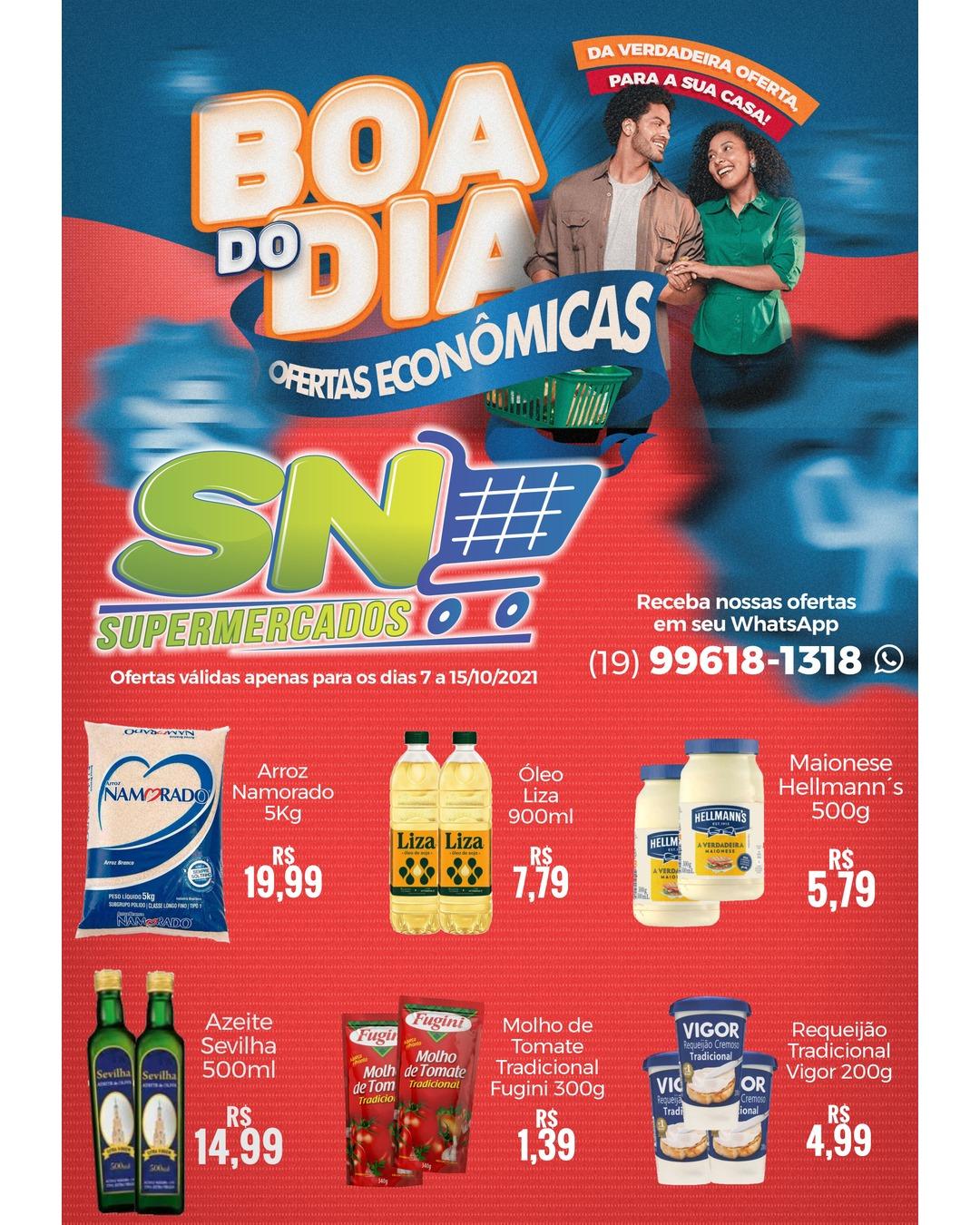 Feriado de mais de 20 ofertas no SN Supermercados