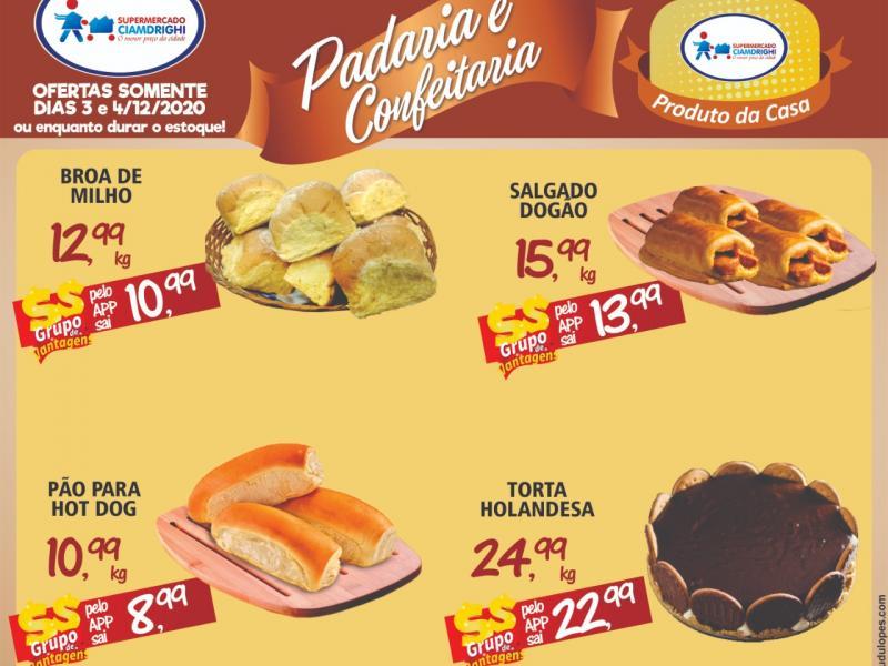 Ciamdrighi tem ofertas na Padaria e Confeitaria para hoje e amanhã