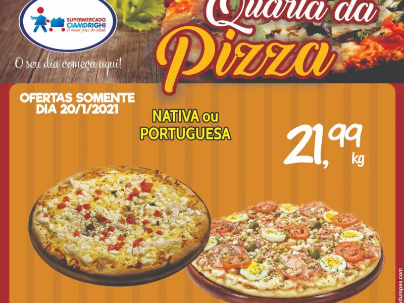 Ciamdrighi tem ofertas em pizzas e frutas para a quarta-feira