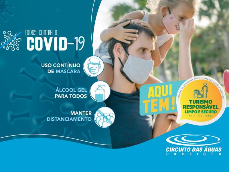 Circuito das Águas Paulista segue todas as recomendações sanitárias e medidas de proteção