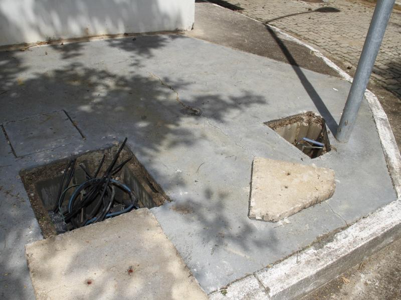 Furto de cabos elétricos interrompe serviço na estação elevatória de esgoto do Roseira de Baixo, em Jaguariúna