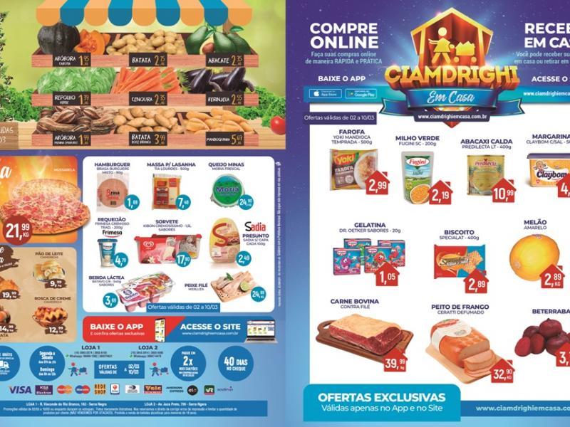 Ciamdrighi tem ofertas na Padaria, Confeitaria e mais 30 opções para a quinta-feira