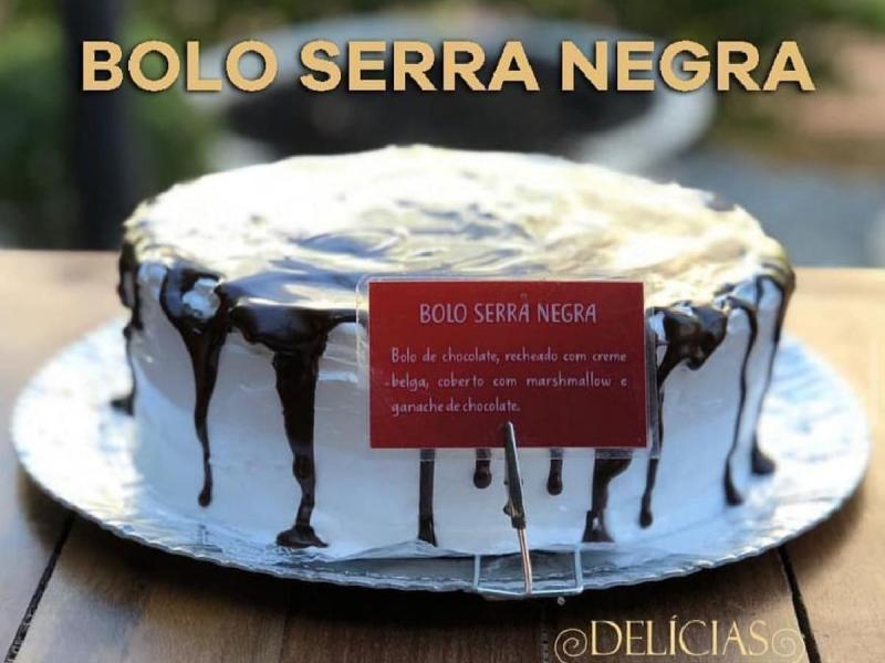 Delícias na Praça tem bolo em homenagem à Serra Negra com preço especial, em março