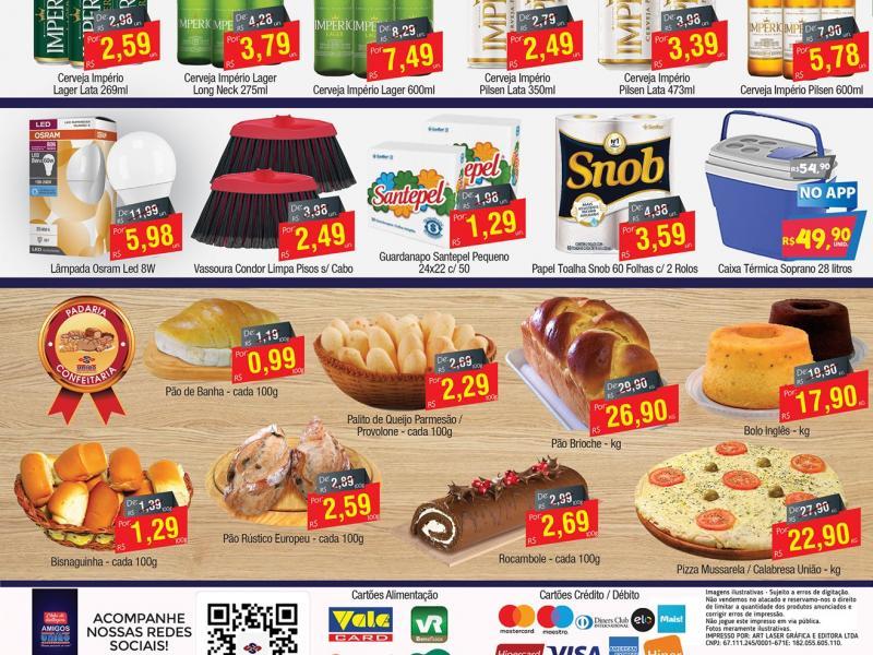 União Supermercados tem ofertas em bebidas e especial da Império para a sexta-feira