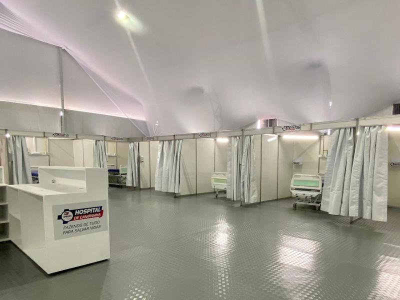 Hospital de Campanha de Amparo começa a receber pacientes amanhã