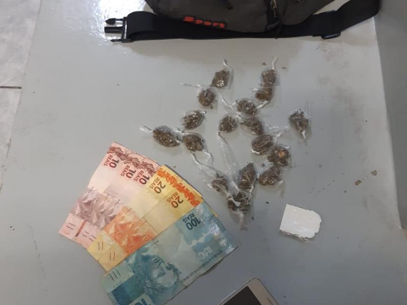 PM recolhe menor com maconha e cocaína no São Dimas