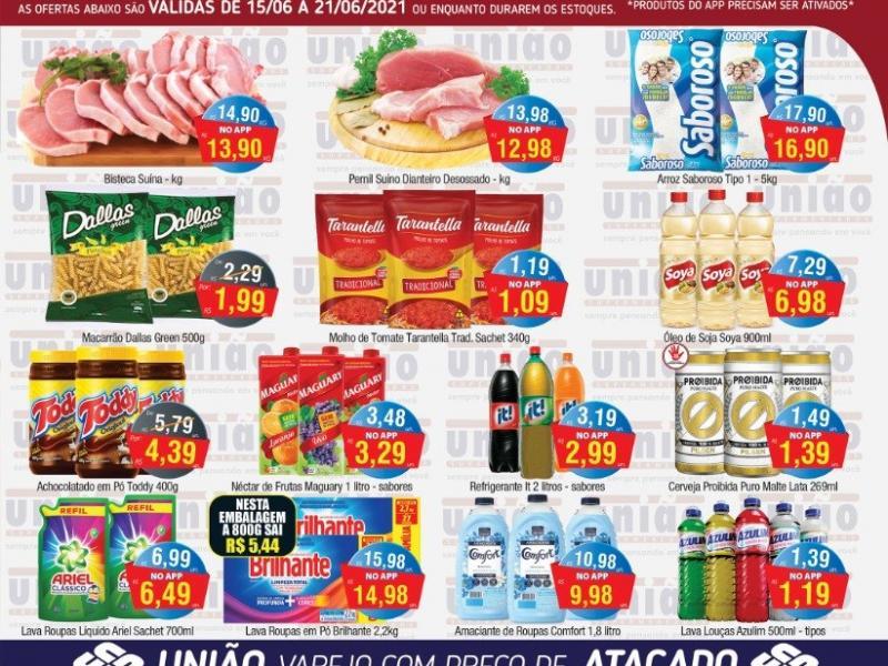 União Supermercados tem mais de 90 ofertas no Arraiá de Ofertas