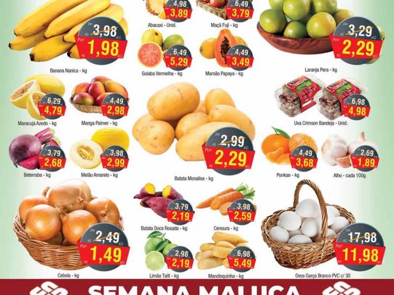 Quarta-Feira de ofertas em hortifrúti, carnes, embutidos, lácteos e muito mais no União Supermercados