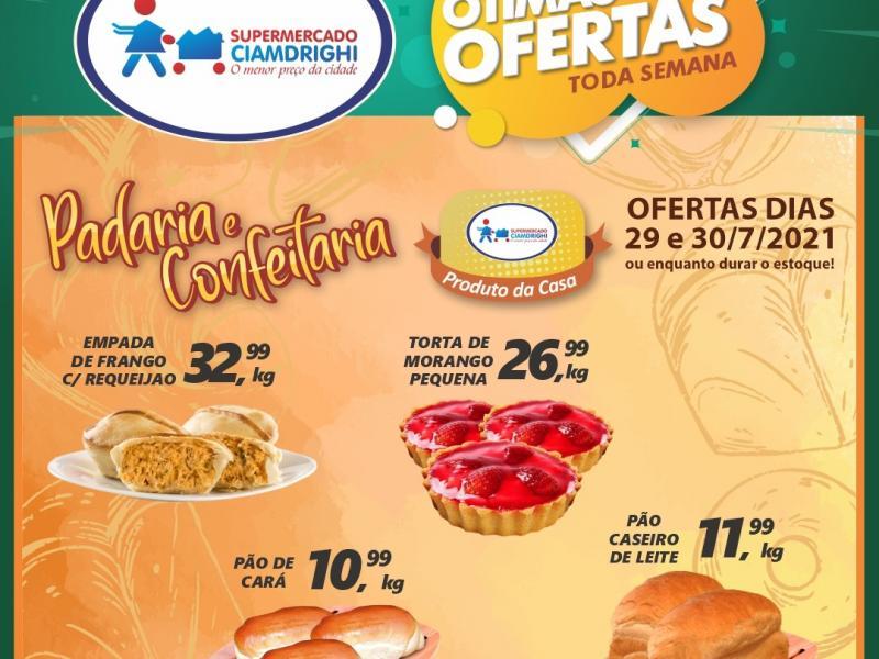 Ciamdrighi tem ofertas na Padaria, Confeitaria e mais 20 opções para a quinta-feira