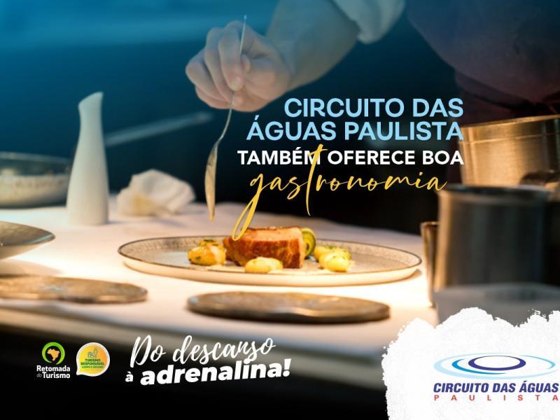 Circuito das Águas Paulista oferece boa gastronomia