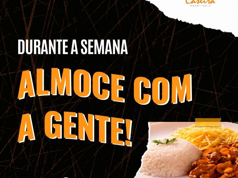Frango com legumes e opções com contrafilé e omelete, no Comida Caseira, nesta terça-feira